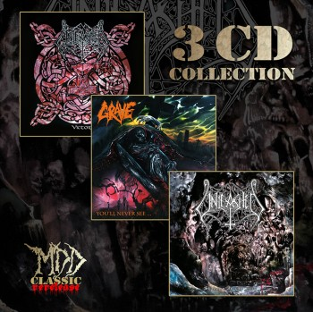 MDD Classic Pack of 3 CD: Grave - You'll Never See, Unleashed - Victory, Unleashed - Shadows In The Deep CD