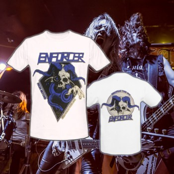 Enforcer - From Beyond World Tour White T-Shirt
