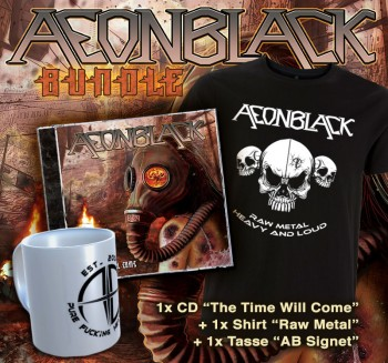 AEONBLACK - The Time Will Come Limited Bundle CD + T-Shirt M