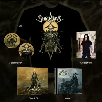 SuidAkrA - Cimbric Yarns Digipak CD + Shirt + Realms Of Odoric - Cimbric Age MCD XXL