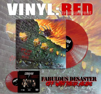 Fabulous Desaster - Off With Their Heads Red Vinyl LP