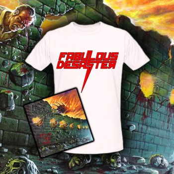 """FABULOUS DESASTER - Off With Their Heads CD Package + T-Shirt """"Logo"""""""