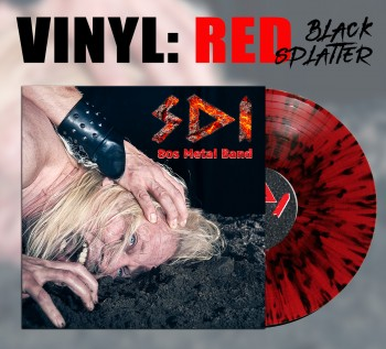 SDI - 80s Metal Band LP Transparent Rot / Schwarz Splatter Vinyl