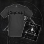 GODSKILL - II: The Gatherer Of Fear And Blood PACKAGE CD + T-SHIRT M