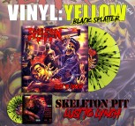 SKELETON PIT - Lust To Lynch Higlighter Yellow / Black Splatter Vinyl LP