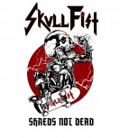 Skull Fist - Shreds Not Dead Baseball T-Shirt, L
